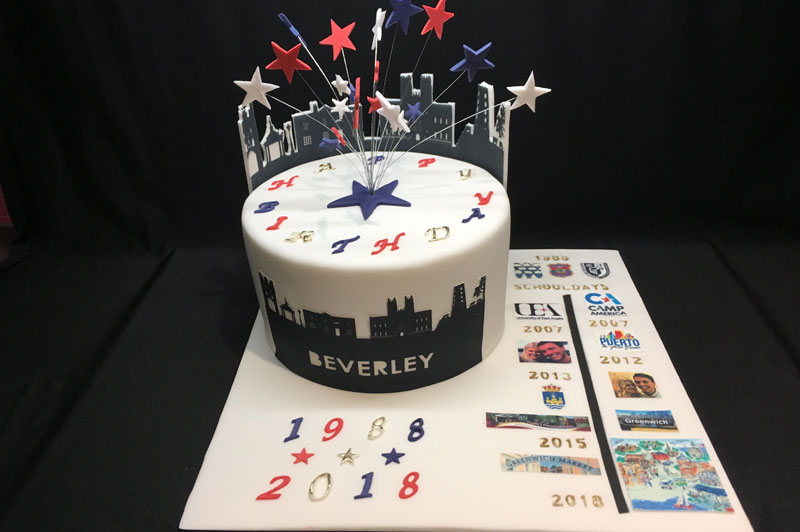 Timeline Themed 30th Birthday Cake
